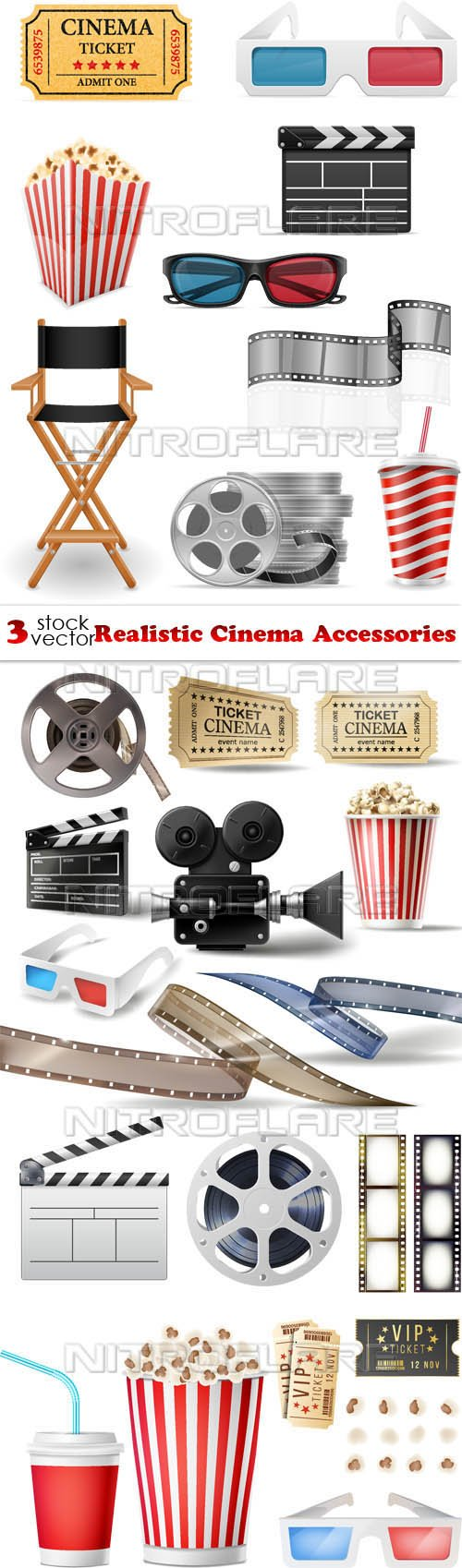 Vectors - Realistic Cinema Accessories