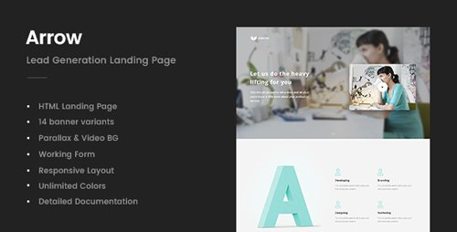 ThemeForest - Arrow v1.0 - Lead Generation Landing Page - 20843989
