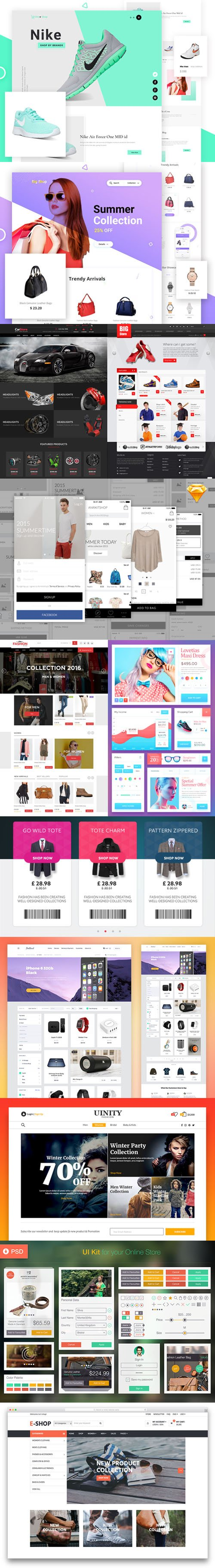 12 Ecommerce PSD Templates to create the Best Online Shop !