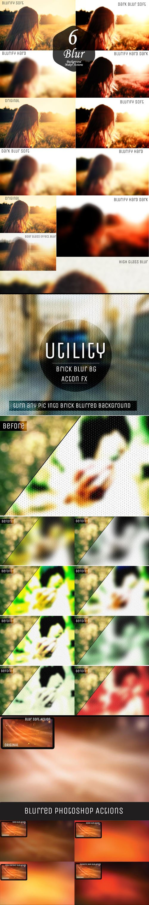 20 Blur Background Maker Actions for Photoshop (RAW/JPEG)
