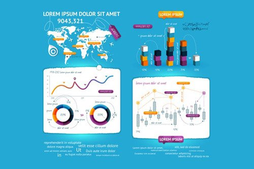 infographics element with Vector GUI Template #7
