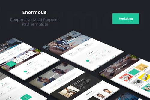 Enormous Marketing PSD Template