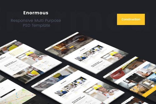 Enormous Construction & Building PSD Template