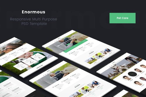 Enormous Pet Care & Veterinary PSD Template