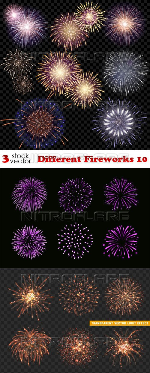 Vectors - Different Fireworks 10
