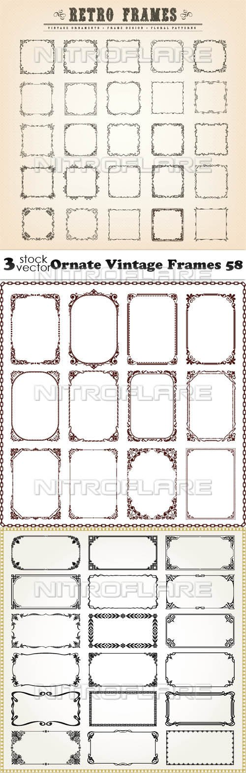 Vectors - Ornate Vintage Frames 58