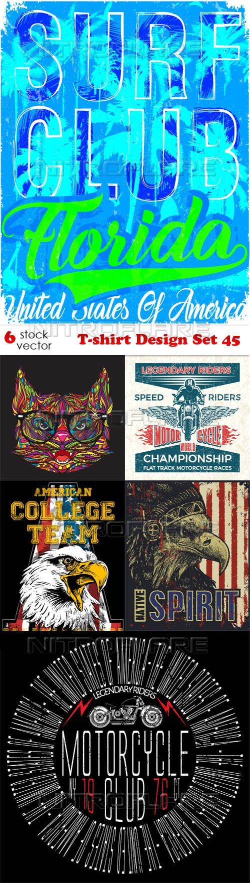 Vectors - T-shirt Design Set 45