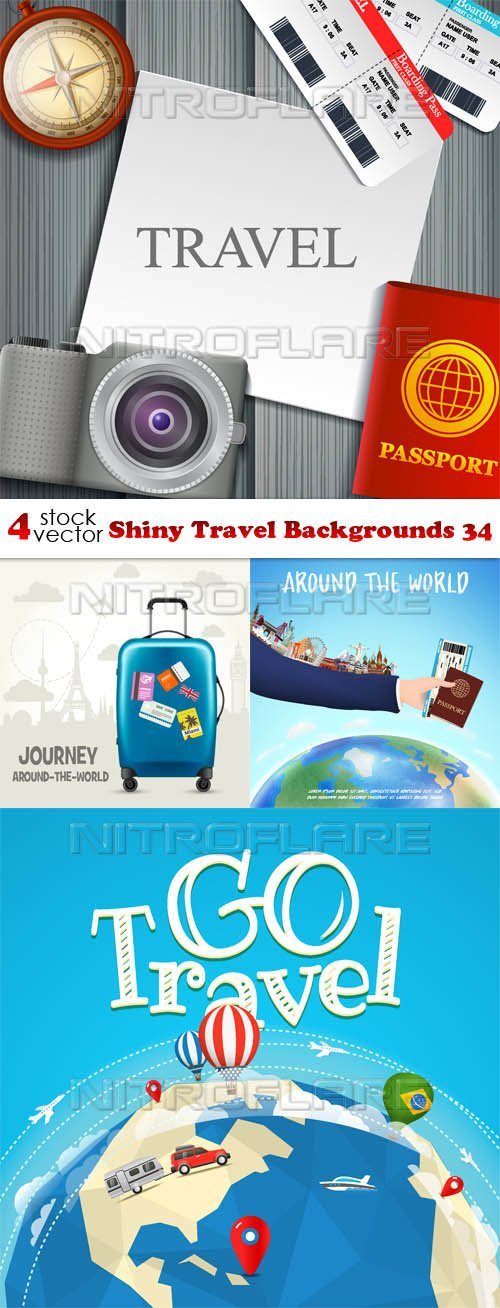 Vectors - Shiny Travel Backgrounds 34