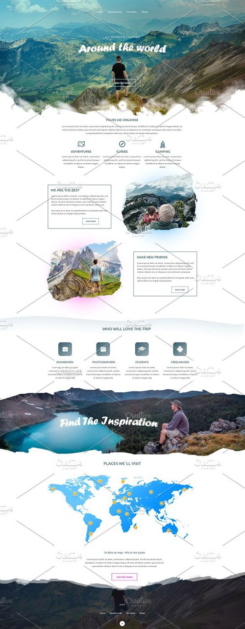 Around the World - PSD Template CM 2223294