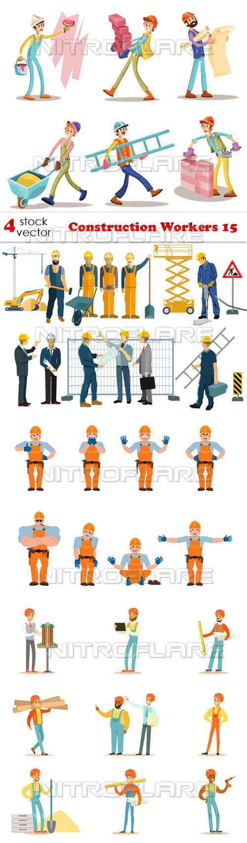 Vectors - Construction Workers 15