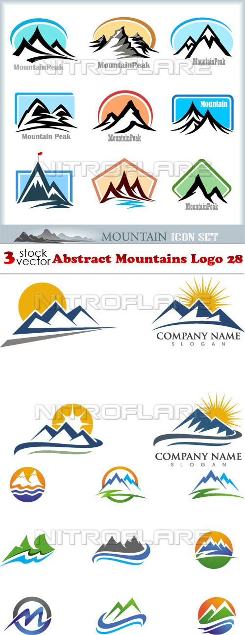 Vectors - Abstract Mountains Logo 28