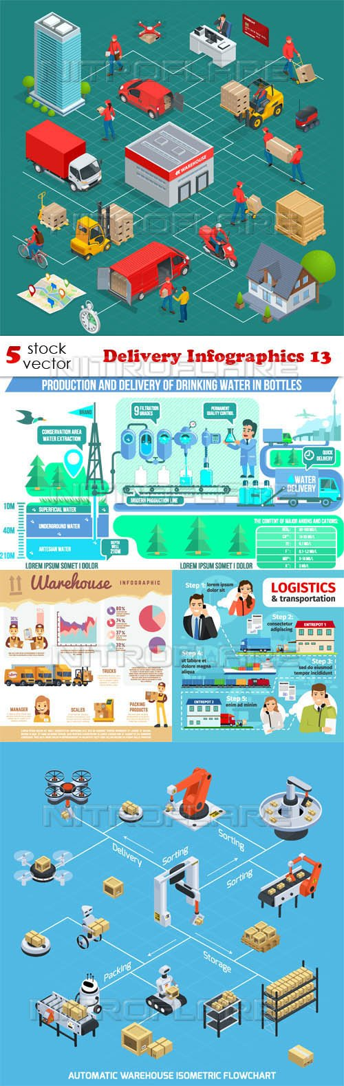 Vectors - Delivery Infographics 13