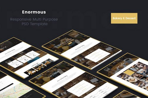 Enormous Bakery, Cakery & Food PSD Template