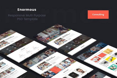 Enormous Consulting & Corporate PSD Template
