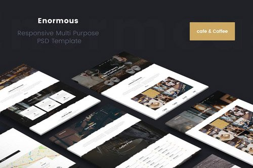 Enormous Cafe Coffee PSD Template