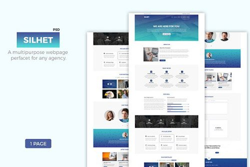 Silhet - Multipurpose One Page PSD - CM 2280487