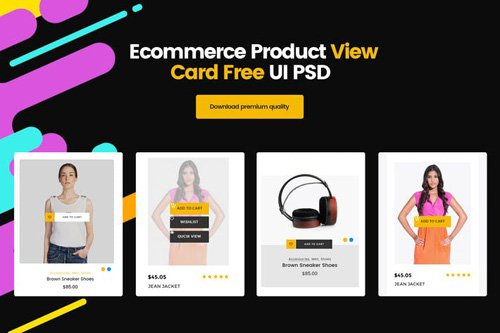 Ecommerce Product View Card UI PSD Template