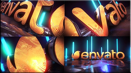 Golden Neon Logo Intro - Project for After Effects (Videohive)
