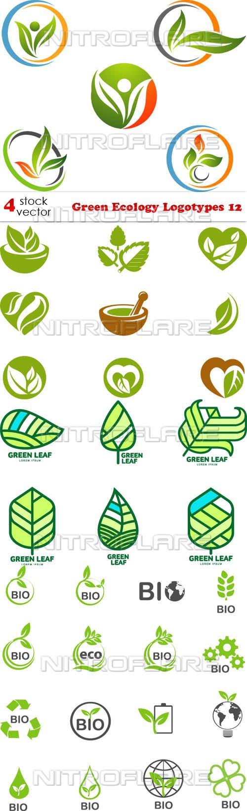 Vectors - Green Ecology Logotypes 12