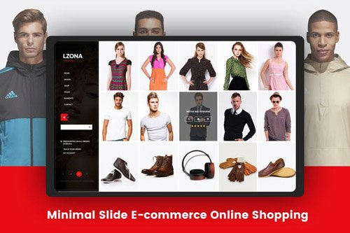 Minimal Slide E-commerce Online Shopping Template