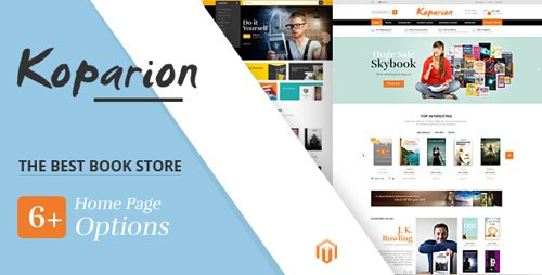 ThemeForest - Koparion v1.0 - Book Shop Responsive Magento Theme - 21412412