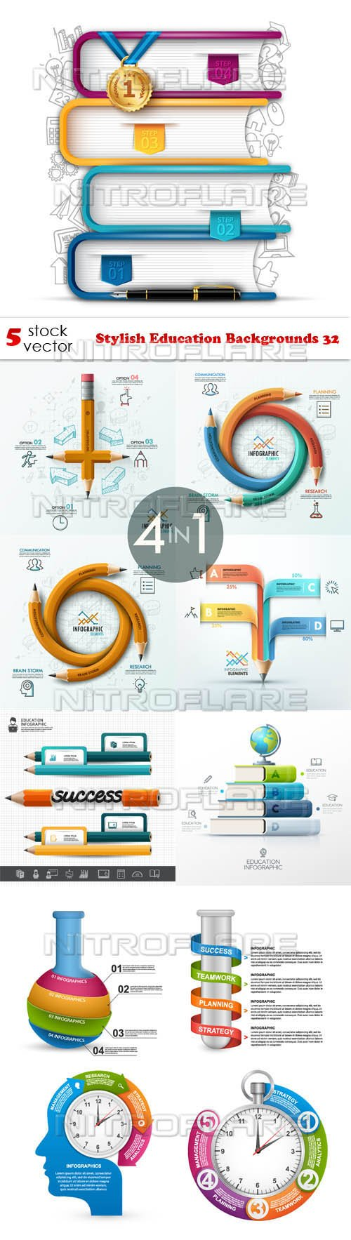 Vectors - Stylish Education Backgrounds 32