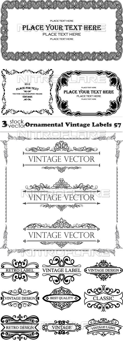 Vectors - Ornamental Vintage Labels 57