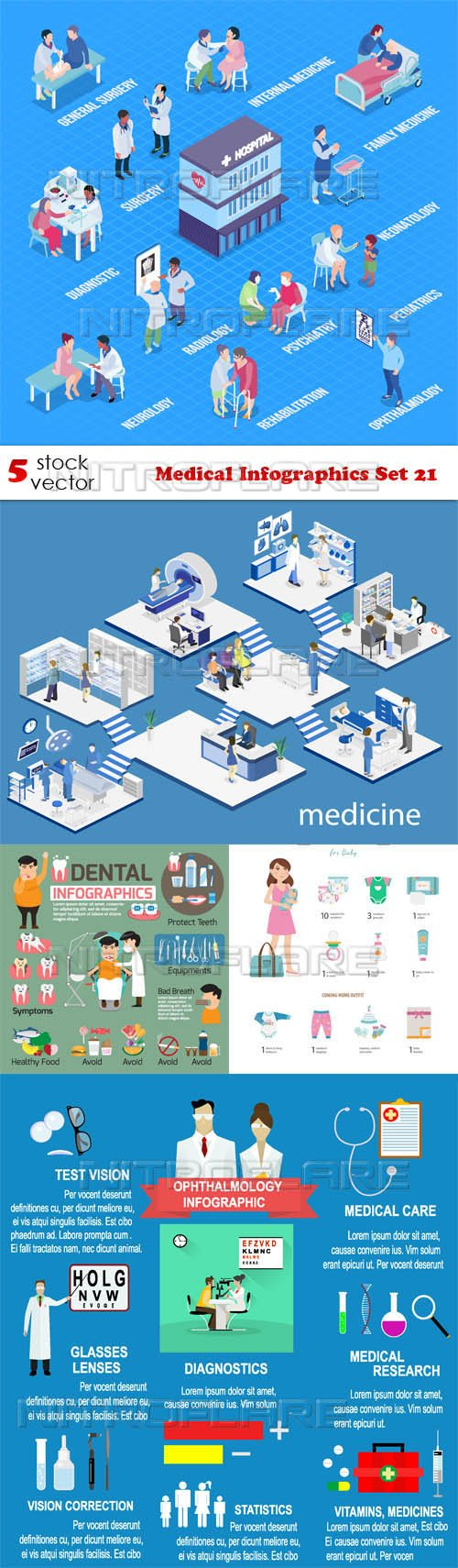 Vectors - Medical Infographics Set 21