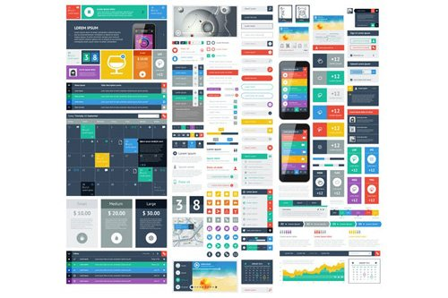 infographics element with Vector GUI Template #11