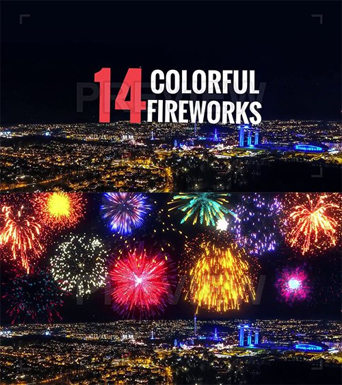 MA - Colorful Fireworks Pack 54190