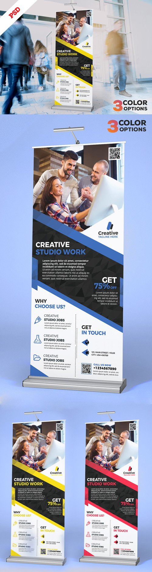 Corporate Roll-Up Banner PSD Set