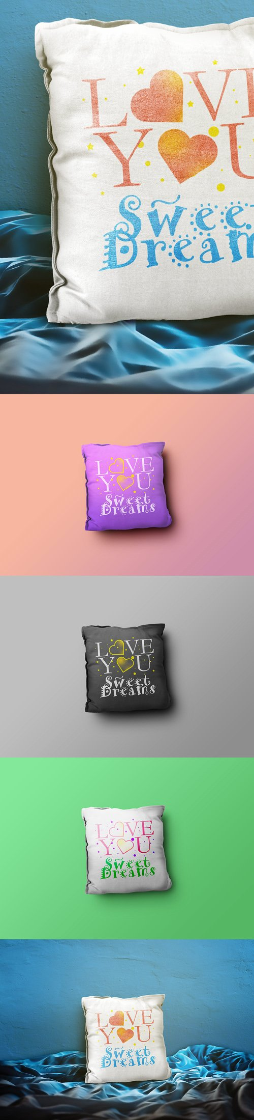 Pillow PSD Mockup Templates