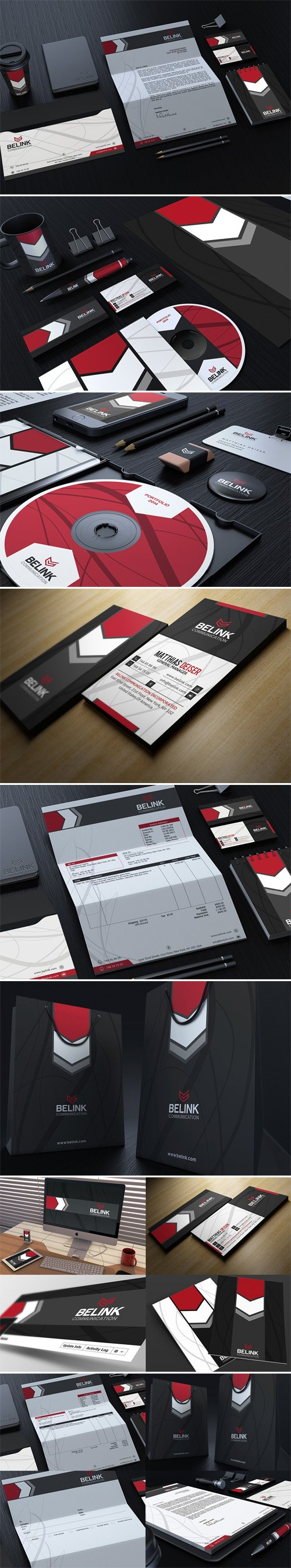 Corporate Identity PSD Mockups Package - Stationery