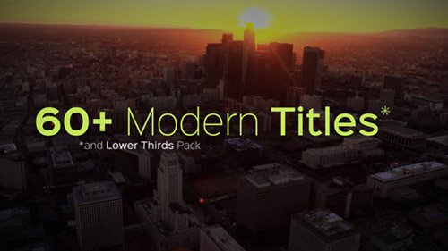 Modern Titles and Lower Thirds - Project for After Effects (Videohive)