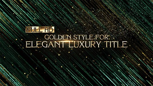 Elegant Luxury Title | Corporate - Project for After Effects (Videohive)
