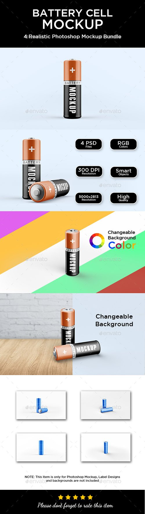 Graphicriver - Battery Cell Mockup 21399443