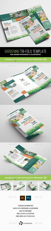 Gardening Tri-Fold Brochure Template 21413616