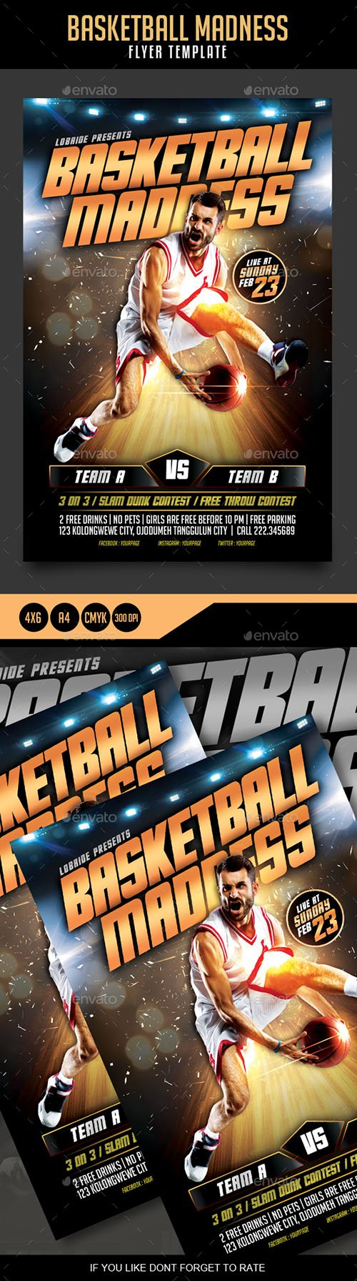 Basketball Madness Flyer 21414144