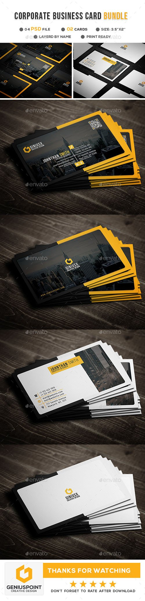 Corporate Business Card Bundle 21414588