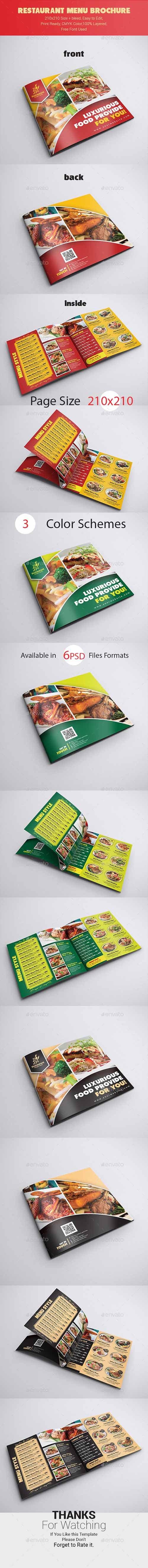 Restaurant Menu Brochure 21414027