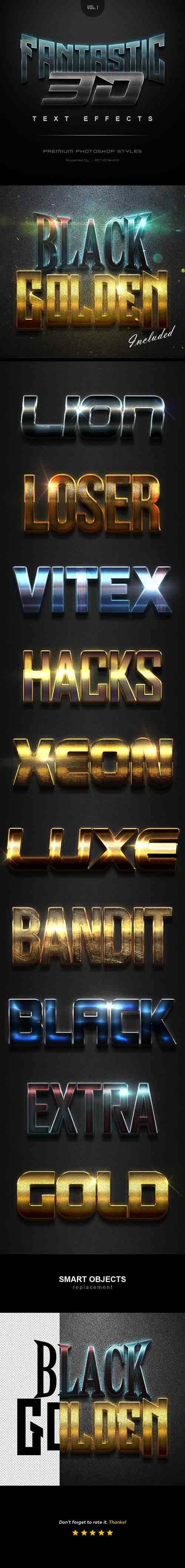 GraphicRiver - Fantastic 3D Text Effects Vol1 21372969