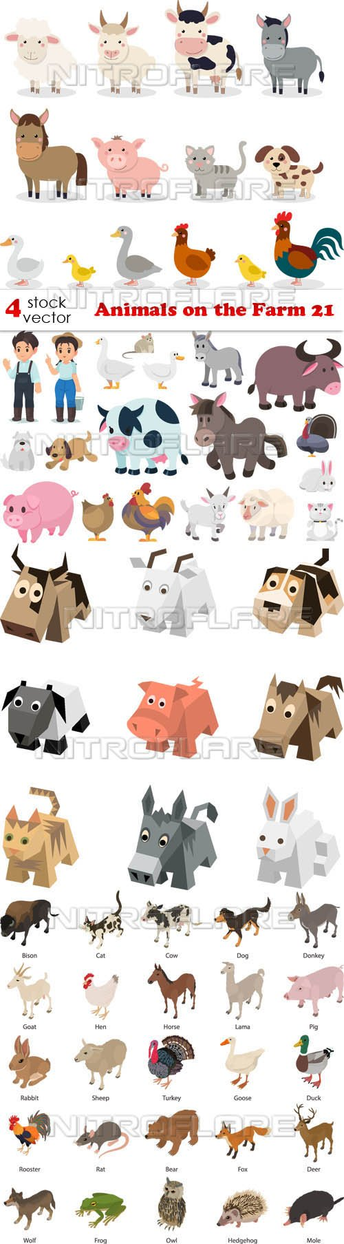 Vectors - Animals on the Farm 21