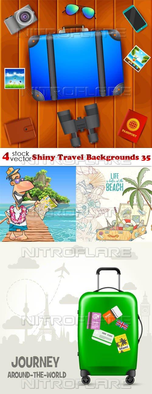 Vectors - Shiny Travel Backgrounds 35