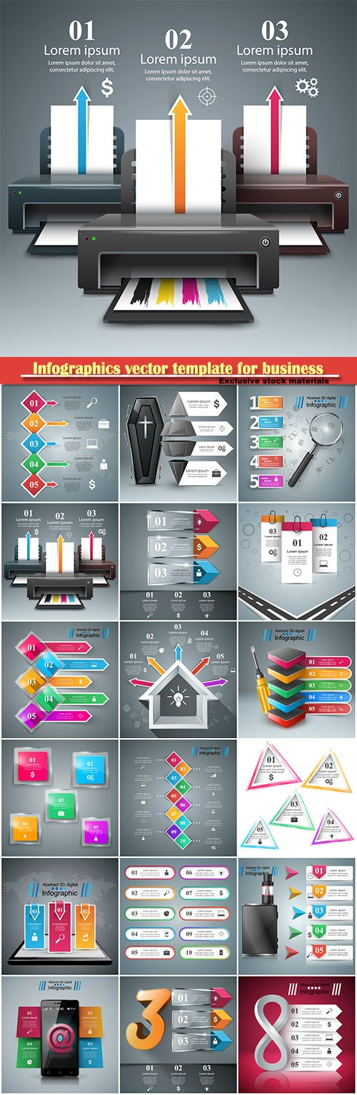 Infographics vector template for business presentations or information banner # 33