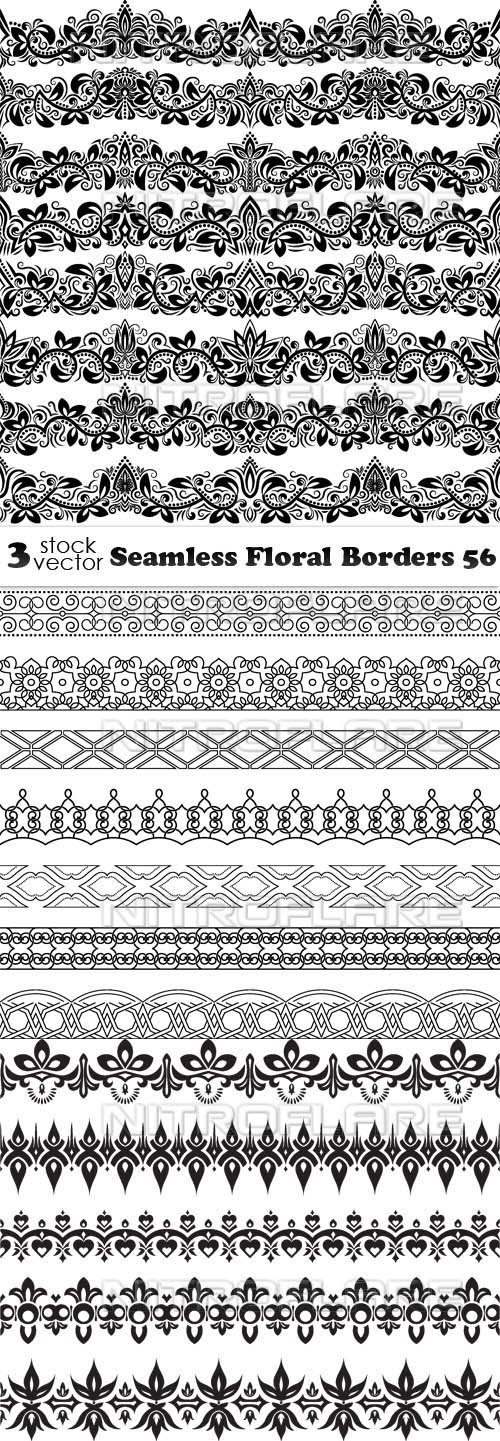 Vectors - Seamless Floral Borders 56