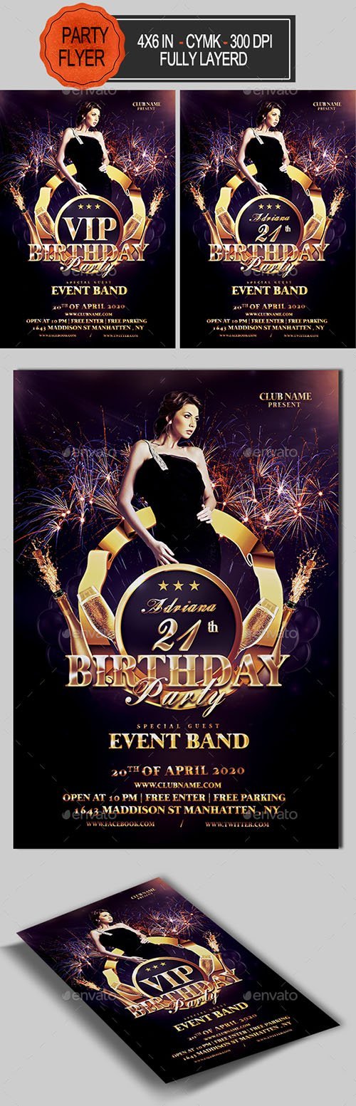 Birthday Flyer 21414778