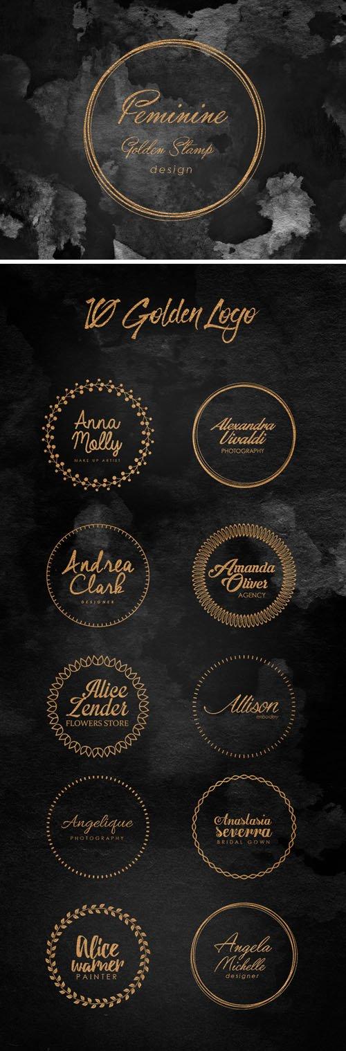 Feminine Golden Stamps (10 PSD)