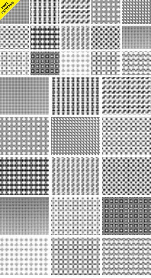 15 Seamless Pixel Patterns for Photoshop (PAT)