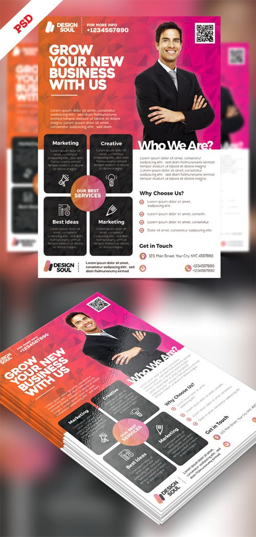 Multipurpose Corporate Flyer Design PSD Template