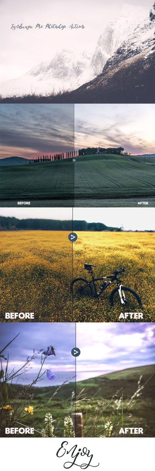 Landscape Pro Photoshop Actions (ATN)